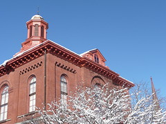 Courthouse with snow