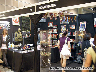 Movie Mania booth