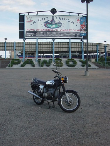 BMW R75/5 at McCoy Stadium, Pawtucket, RI