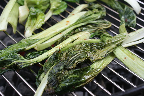 grilling bok choy