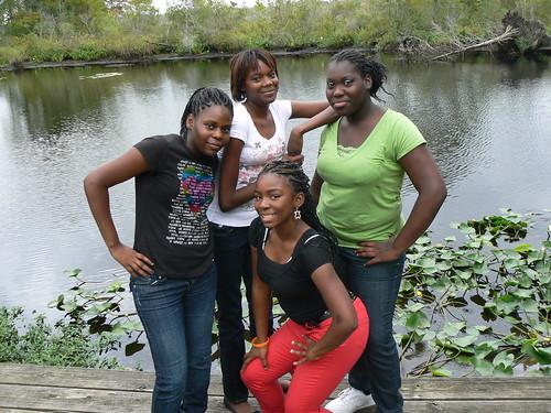 Hunter Street Girl's Night - Camden Causeway Park - Reisha, Vick, Khaliya, Ty with Lilypads