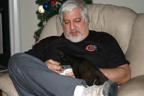 Christmas 2009 - Timmy, Qubit, Eggnog