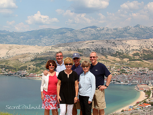 With Pag town in the background...