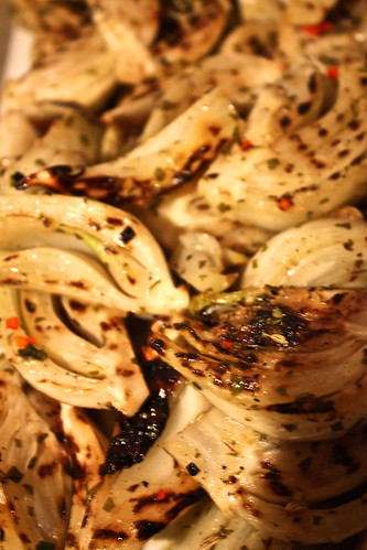 Roasted fennel in all kinds of herbs. Easy tiger!