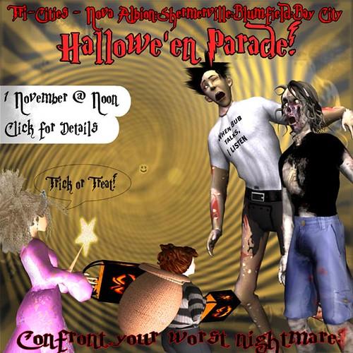 Bay City Halloween Parade Poster