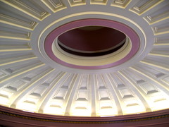 West Courtroom ceiling