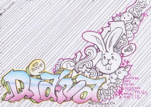 Graffiti De Claudia En Nombre