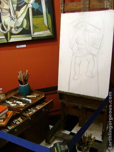 Ang Kiukok painting materials exhibit