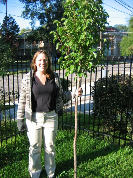 Kristina and her tree (c.1994)