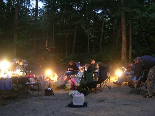 night at camp