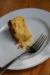 Pumpkin-Ricotta Cheesecake (eating 2)