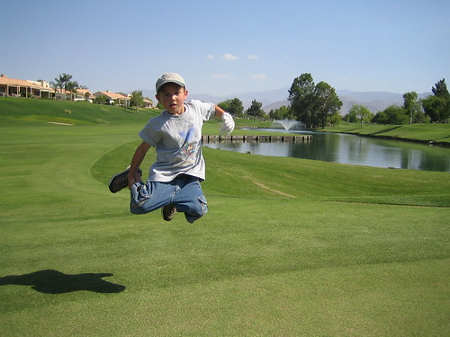 Jump for golf!