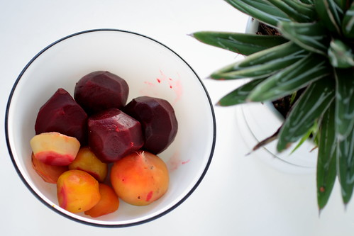 Beets boiled and peeled