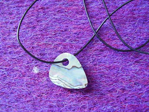 Paua pick pendant-flip side