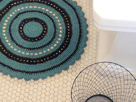 crochet bathmat