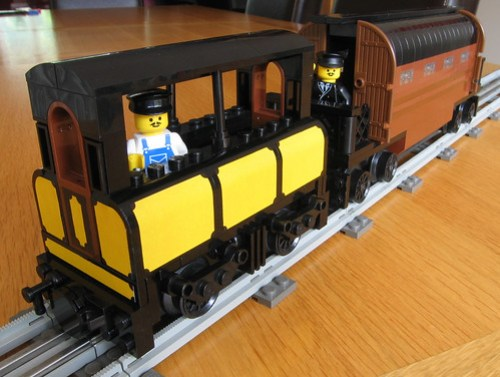 World's first tube train created in Lego