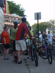 Sign up was at Studio 35, most of the group pedaled away about 7:30 pm