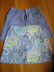 shorts and skort refashion