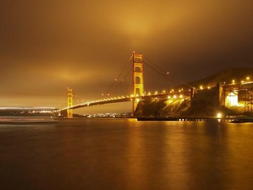 Golden Gate Bridge at Night from Fort Baker
