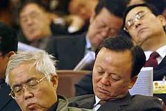 Ilustrasi Pejabat China tertidur