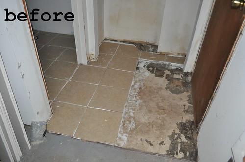 garden apt tile before
