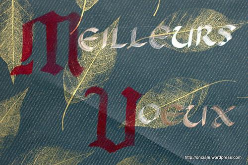 meilleurs voeux calligraphie onciale