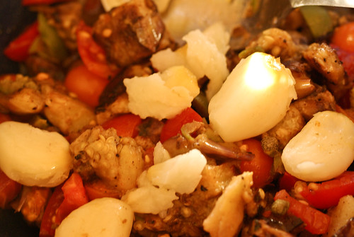 caponata with grilled garlic