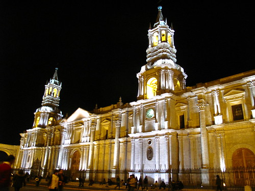 Arequipa Cathedral by Night