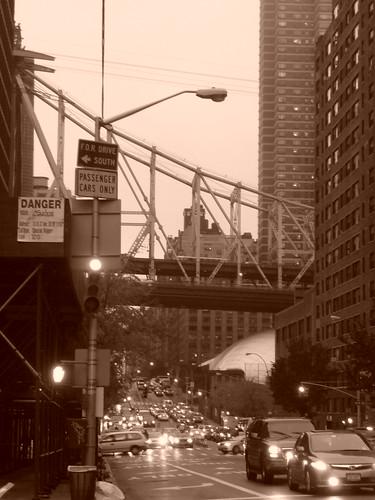Queensboro Bridge seen from York Avenue