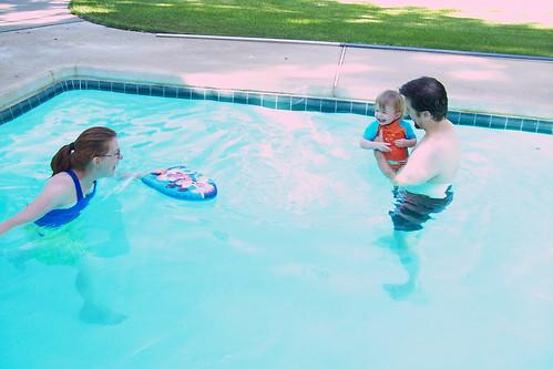 Ellie's First Swim