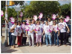 """Mobilização da campanha """"Basta de Violência contra as Mulheres"""", em dezembro de 2009. Foto: Chico Santiago/ Pref. Olinda"""