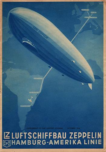 Graf Zeppelin Route Poster