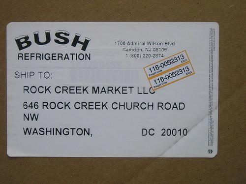 Rock Creek Market Refrigeration