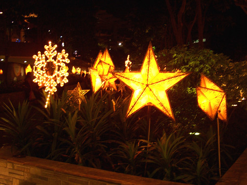 Parols all in a row (christmas lantern in the shape of a star)