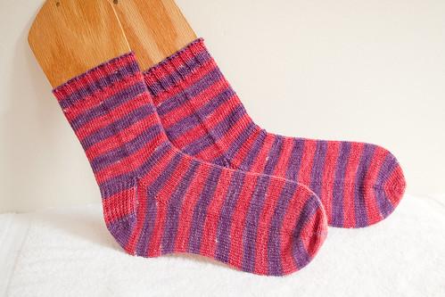 Finished Stripey Socks!