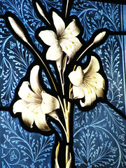 """Angel stained glass Mapledurham St. Margaret's Church"""