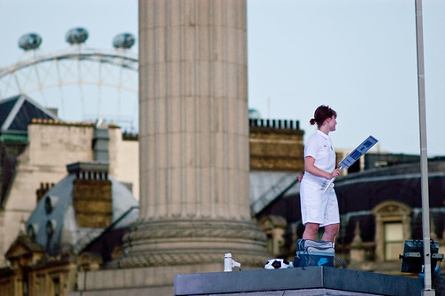 Lindsey on the plinth