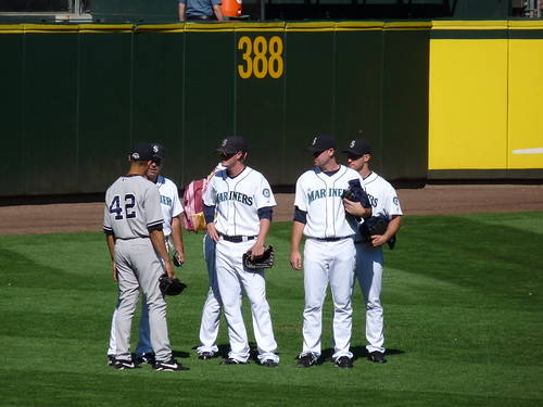 Rivera and Mariners Bullpen