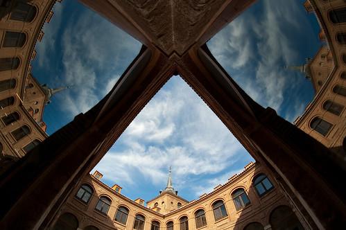 Colegio de Málaga a vista de pez