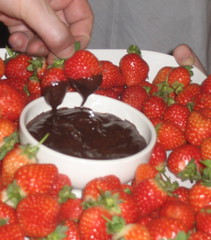 Andy Stanton's strawberries in chocolate