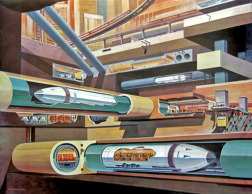 1969- tube trains under city - Klaus Burgle by x-ray delta one.