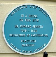 Cheltenham ... Dr. Edward Jenner.