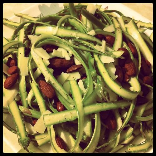 Ribboned Asparagus Salad - Instagram