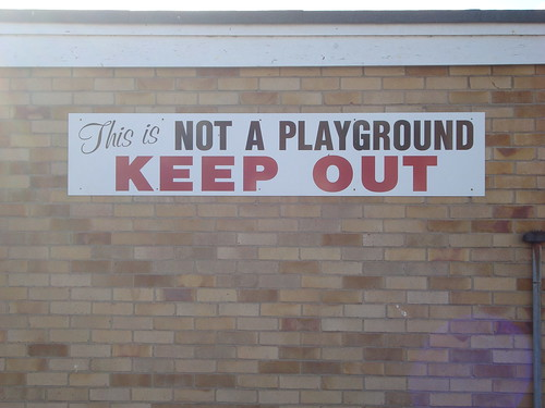 This is *not* a playground