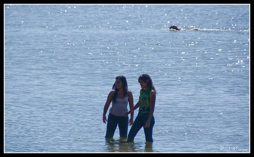 Refrescandose en el lago
