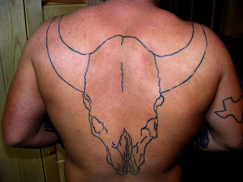 Cow Skull 2 Great Back tattoo