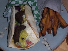 Falafel and fries from Magic Beans