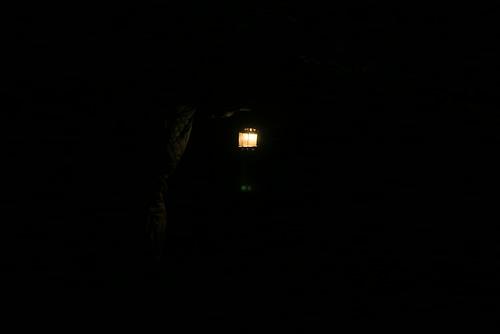 The cave was sooooo dark by you.