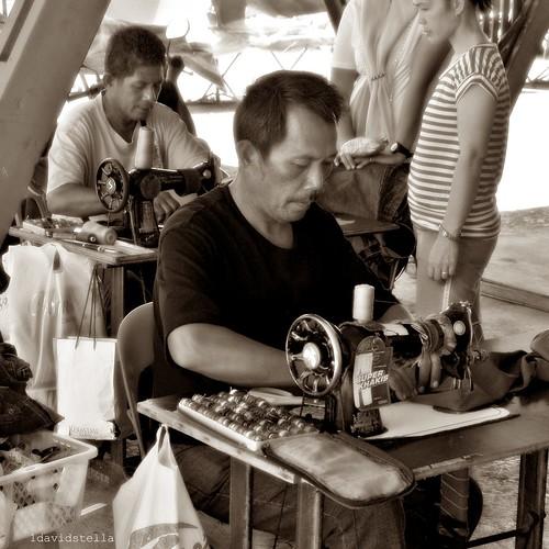 tailors, street portrait, Kota Kinabalu, Sabah.