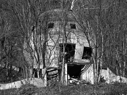 Abandoned Concrete Round House